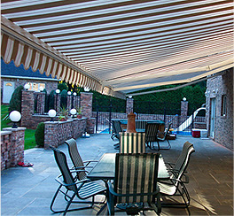 An awning, awnings in Nashville, TN, retractable awnings and motorized awnings from Total Home Solutions.